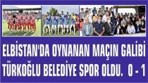 İlk Maçın Galibi Türkoğlu Belediye Spor Oldu.